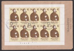 DDR Martin Luther Kleinbogen Mit Plattenfehler MiNr. 2755(10) Mit Pf III, SSt. Berlin 9.11.82 Martin-Luther-Ehrung