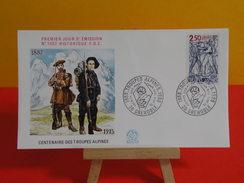 FDC > 1980-1989 > Centenaire Des Troupes Alpines 1887-1987 - 38 Grenoble - 25.6.1988 - 1er Jour. Coté 1,80 € - FDC