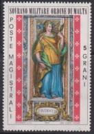 SMOM Sovereign Military Order Of Malta Mi 100 - Cardinal Virtues - Caution 1974 * * - Malta (Orde Van)