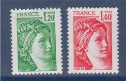 = Sabine De Gandon 2101 Et 2102 Neufs 2 Valeurs - 1977-81 Sabine De Gandon