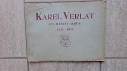 Karel Verlat, Eeuwfeest-album  1824-1924 Door P. B., 28 Pp., 1924 - Boeken, Tijdschriften, Stripverhalen