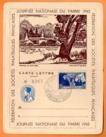 MAURY N° 593   HOSTEL DIEU DE BEAUME  Carte Lettre  N° BB 37 - 1961-....