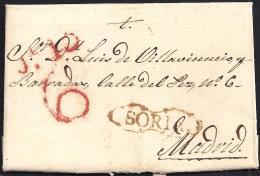 1837. ESPAÑA. SPAIN. SORIA A MADRID. - ...-1850 Prephilately
