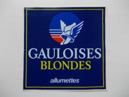 - Autocollant GAULOISES BLONDES - - Tabac (objets Liés)