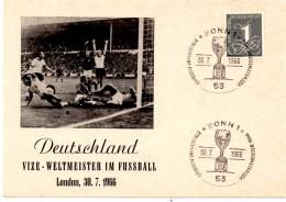 CP De Bonn_coupe Du Monde (30.07.1966) Allemagne Vice Champion - Coupe Du Monde