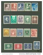 Austria/Österreich 1949 Kompletter Jahrgang/Year  MNH/**/Postfrisch