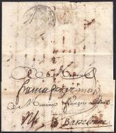 1725. ESPAÑA. SPAIN. TOULOUSE A BARCELONA. - ...-1850 Prefilatelia