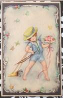 RARE LITHO Art Nouveau Illustrateur HANNES PETERSEN  PRIMUS W.L.B. Ange Chapeau Arc Papillon Timbre 1932 ALBERT KEPI - Petersen, Hannes