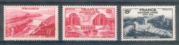 France - 1948 - Barrage De Génissiat & Palais De Chaillot- Y&T N° 817/818/819 ** Neufs Luxe ( Gomme D´origine Intacte )