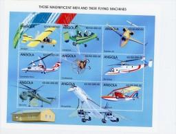 Angola 1998-Concorde,hélicoptère , ULM,avions-YT 1214/22***MNH