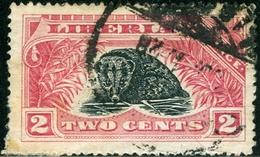 LIBERIA, COMMEMORATIVO, 1918, FAUNA, ANIMALI, FRANCOBOLLO USATO, Michel 154, Scott 164, YT 141 - Liberia