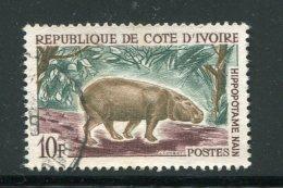 COTE D´IVOIRE- Y&T N°215A- Oblitéré (hippopotame)