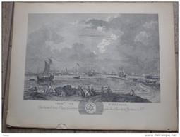 Premiere Vue D'Ostende Par L.J.Masquelier 1737 - Lithographies