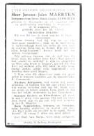 1803 JEROME MAERTEN RENINGELST 1883 + WESTOUTER 1961 OUDSTRIJDE 1914-1918 - Images Religieuses