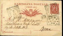 14889 Italia,  Circuled Card 1893 Bagni Di Casciana Pisa,  Thermal Village - Hydrotherapy