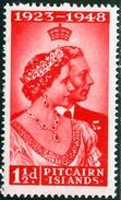 PITCAIRN ISLANDS, COLONIA BRITANNICA, BRITISH COLONY, 1949, COMMEMORATIVO, NOZZE ARGENTO, REGINA ELISABETTA, FRANCOBOLLO