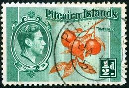 PITCAIRN ISLANDS, COLONIA BRITANNICA, BRITISH COLONY, FLORA, FRUTTA, COMMEMORATIVO, RE GIORGIO VI, 1940, FRANCOBOLLO USA