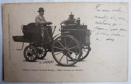 RARE Carte Postale CPA Voiture A Vapeur DE DION BOUTON 1885 MONTEE PAR BOUTON  PUTEAUX 92 - J LOCKERT LE CHAUFFEUR - Passenger Cars