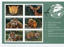 Angola 1999-renard,biche,singe,lion..1247/52-feuille***MNH