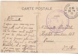 64 Oloron  Ste Marie- Carte De 1915 Cachet Violet Hopital Temporaire D'Oloron Le Médecin Chef.Tb état. - Marcophilie (Lettres)