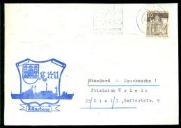 Deutsche Bundespost Spezial Umschlag Kieler Woche Lüneburg Stempel Kiel - Schiffahrt