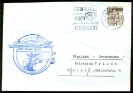 """Deutsche Bundespost Spezial Umschlag MS """"Blauer Pirat"""" Schnellstes Fahrgastschiff Der Förde Stempel Flensburg - Marítimo"""