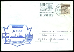 """Deutsche Bundespost Spezial Umschlag AE """"Westerwald"""" A 1435 Stempel Flensburg - Schiffahrt"""