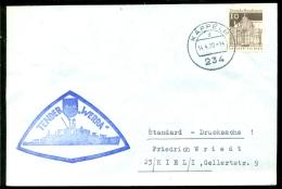 """Deutsche Bundespost Spezial Umschlag Tender """"WERRA"""" Stempel Kappeln - Maritime"""