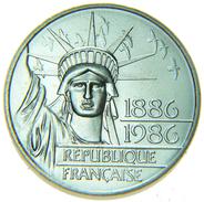 [NC] FRANCIA/FRANCE 100 FRANCS 1986 (Centennial Statue Liberty) PIEDFORT SILVER/ARGENTO - Commemorative