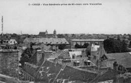 Cpa Caen 14 Calvados Vue Prise De St Jean Vers Vaucelles - Caen