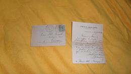 ENVELOPPE + LETTRE DE 1904. / ETUDE DE Me LANGLOIS NOTAIRE. / VICQ SUR NAHON A TAUXIGNY. / CACHETS PERLE + TIMBRE - 1877-1920: Semi Modern Period