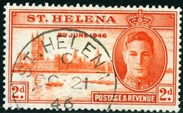 SANT'ELENA, SAINT HELENA, COLONIA CORONA BRITANNICA, BRITISH CROWN COLONY, 1946, PACE, GIORGIO VI, Scott 128 - Isola Di Sant'Elena