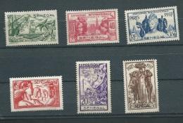 Sénegal  Serie Yvert N°  138 à  143 (*) ( Neuf Sans Gomme - Ava 10804 - 1937 Exposition Internationale De Paris