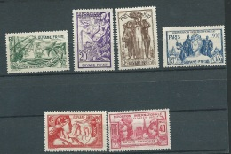 Guyane   Serie Yvert N°  143 à  148 (*) ( Neuf Sans Gomme - Ava 10808 - 1937 Exposition Internationale De Paris