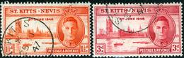 SAINT KITTS E NEVIS O SAINT CHRISTOPHER, COMMONWEALTH BRITANNICO, 1946, COMMEMORATIVO, PACE, PEACE, RE GIORGIO VI, FRANC