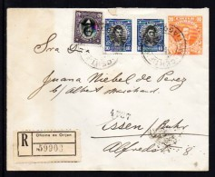 Chile 1921 To Germany, Registered Mail   (A556)