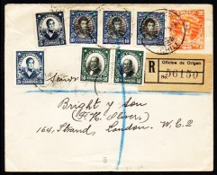 Chile 1921 To UK, Registered Mail   (A470)