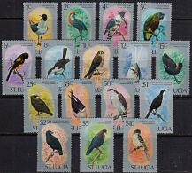 P0002 SAINT LUCIA 1976, SG 415-30  Birds   MNH