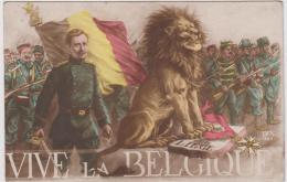 AK - Patriotik WK I, - VIVE LA BEGIQUE - (Frankreich Verlag DIX Nr.189) 1919 - Belgien