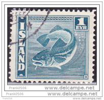 Iceland 1939, Codfish, 1e, Used - 1918-1944 Unabhängige Verwaltung