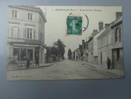 CPA 27 BEUZEVILLE ROUTE DE PONT L'ÉVÊQUE COMMERCE - France