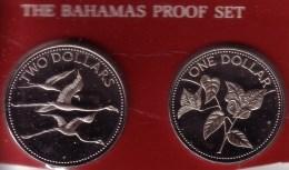 BAHAMAS - 1 & 2 Dollars 1984 FM Proof - KM# 104 & 105 [Very Rare Types] - Bahamas