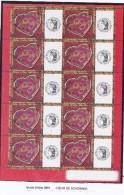 FRANCE 2006 COEURS DE LA ST VALENTIN FEUILLET 3861 LOGO CERES