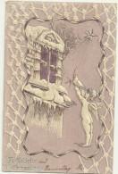Theme Voeux Cpa  Noel Weihnachten Ange Et Colombe Engel Gaufrée Belle Carte 1902 - Noël