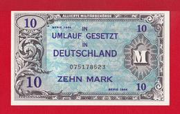 """BILLET DE 10 MARK """" TYPE OCCUPATION DES ALLIES EN ALLEMAGNE """"  DE 1944   IN UMLAUF GESETZT IN DEUTSCHLAND   BILLET  NEUF - [ 5] 1945-1949 : Allies Occupation"""
