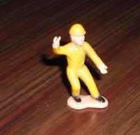 Personnage De Chantier Starlux Plastique Vintage - Figurines