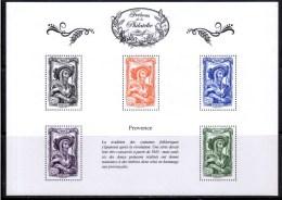 """FR 2014 / BS4 """" TRESORS DE LA PHILATELIE-provence 1943 """" ISSU DU 1er ENSEMBLE DE 10 BF / PRIX CASSé / NEUF RARE / .... - Blocs & Feuillets"""