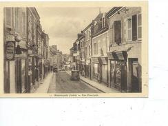 36-BUZANCAIS-Une Vue Animée Des Magasins Rue Prinçipale- - Francia