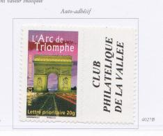 FRANCE 2003 ARC DE TRIOMPHE 4027B LOGO MNH ADHESIF