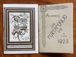 CALENDARIETTO DA BARBIERE 1923 GIORNALETTO DA PORTAFOGLIO RR - Calendari